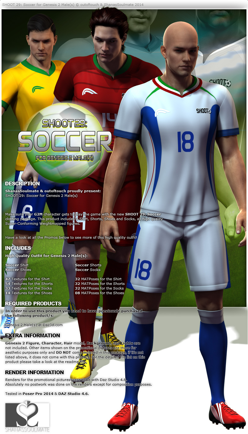 SHOOT 29: Soccer for Genesis 2 Male(s)