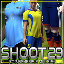 SHOOT 29: Soccer for Genesis 2 Male(s) 3D Figure Assets outoftouch