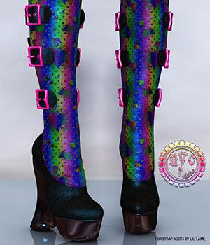 NYC Strap Boots 3D Figure Essentials 3DSublimeProductions