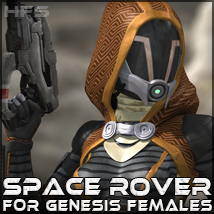 HFS Space Rover for Genesis 3D Figure Essentials 3D Models DarioFish