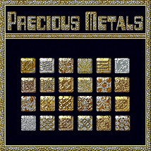 BLING! Precious Metals Layer Styles 2D fractalartist01