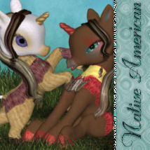 DA-NativeAmerican for The Unicorn: Baby 3D Models DarkAngelGrafics