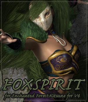 FOX SPIRIT for Enchanted Forest:Kitsune for V4 3D Figure Assets Anagord