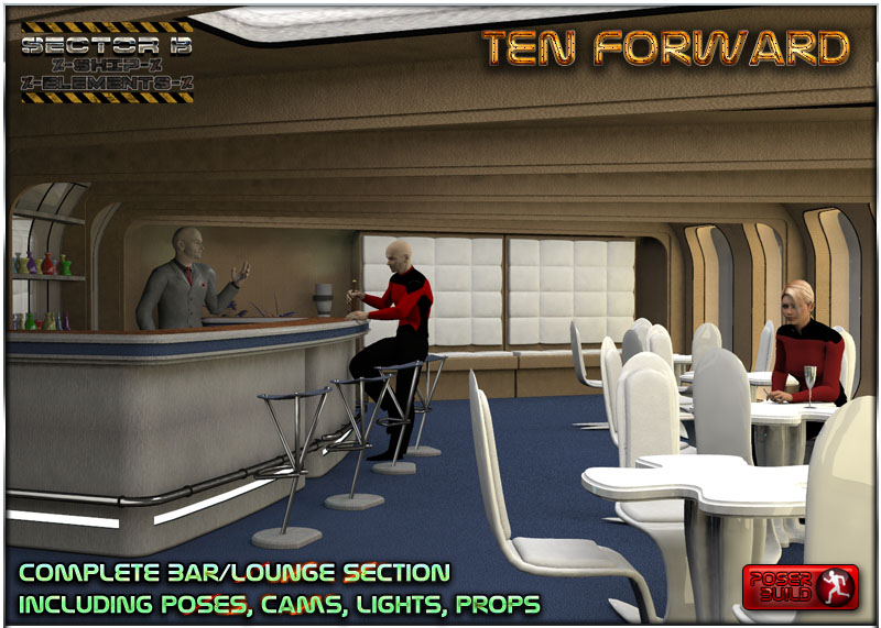 Ship Elements B7: Ten Forward Lounge