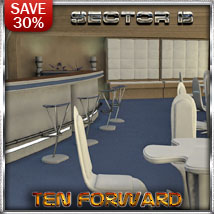 Ship Elements B7: Ten Forward Lounge 3D Models 3-d-c