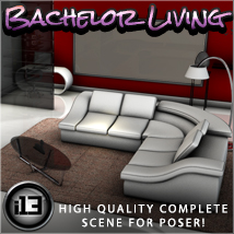 i13 Bachelor Living 3D Models Software ironman13