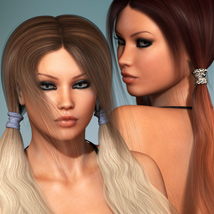Sporty Pigtails Hair and OOT Hairblending image 3