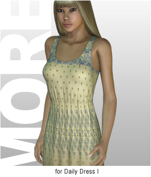 MORE Textures & Styles for Daily Dress I 3D Figure Essentials 3D Models motif