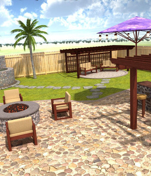 Backyard Living 3D Models RPublishing