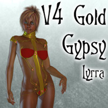 V4 Gold Gypsy 3D Figure Essentials Lyrra