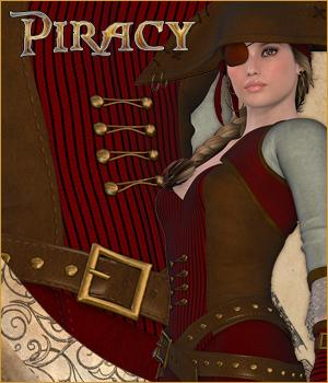 Captain Anne - Piracy 3D Figure Essentials P3D-Art