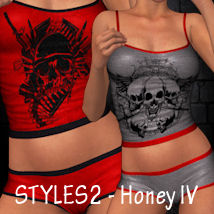 Styles 2 for Honey IV 3D Figure Essentials ANG3L_R3D