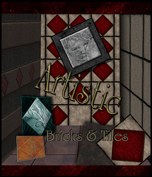 Artistic Bricks and Tiles 2D Graphics antje