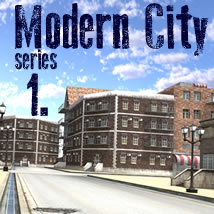 Modern City 1. 3D Models dexsoft-games