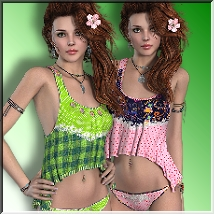 AM: Breeze - 16 Styles for Summer Outfit 3D Figure Assets LUNA3D