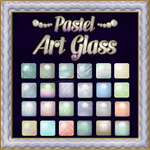 Pastel Art Glass Layer Styles 2D Graphics fractalartist01