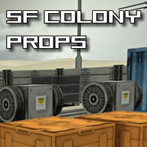 SF Collony Series - Props 3D Models dexsoft-games