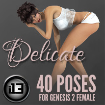 i13 Delicate poses for Genesis 2 Female 3D Figure Assets ironman13