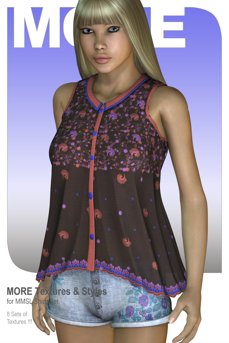 MORE Textures & Styles for MMSL ShirtsSet
