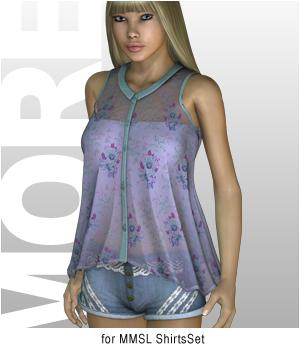 MORE Textures & Styles for MMSL ShirtsSet 3D Figure Essentials motif