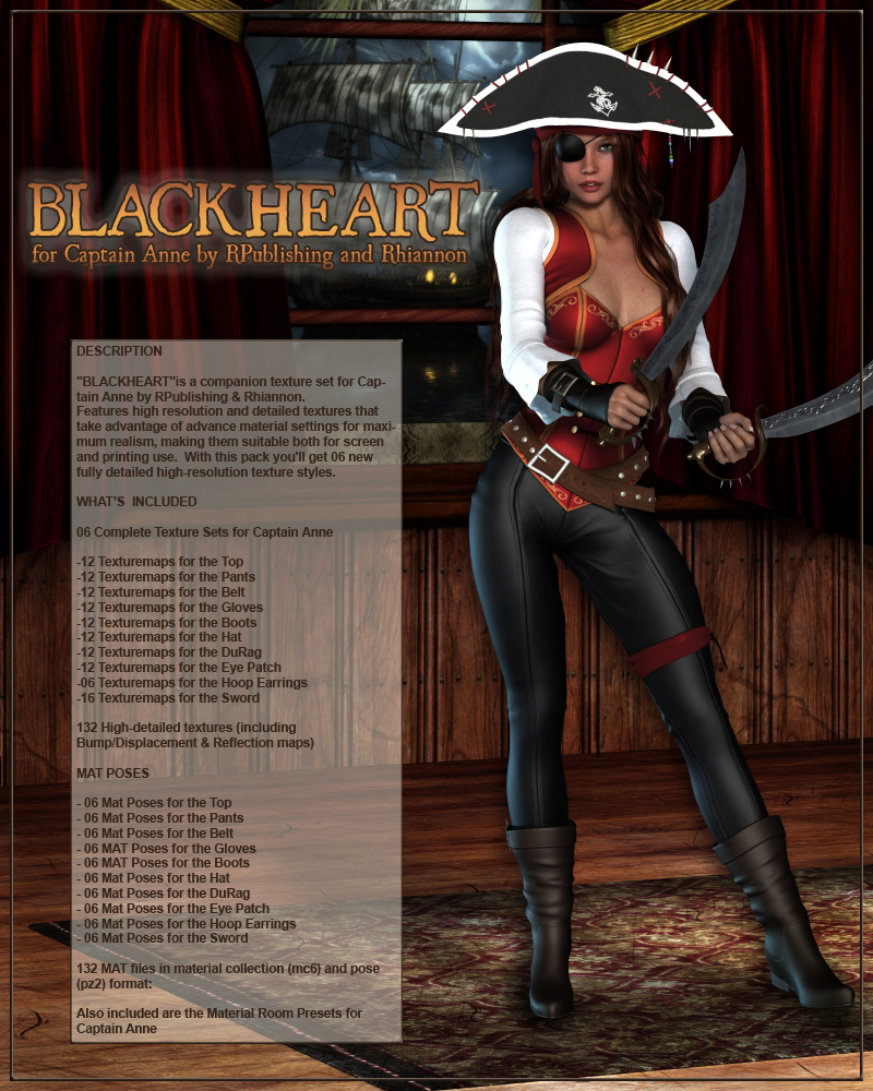 BLACKHEART for Captain Anne