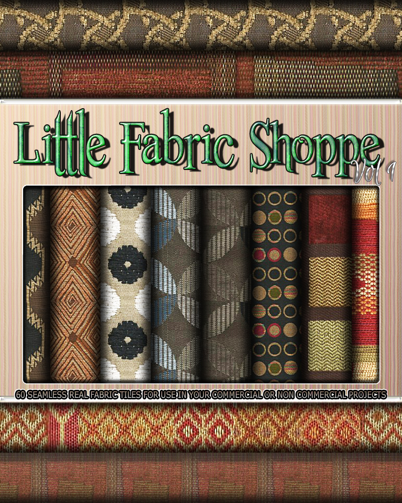 Little Fabric Shoppe Vol 1 by 3DSublimeProductions