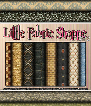 Little Fabric Shoppe Vol 2 2D Graphics Merchant Resources 3DSublimeProductions