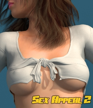 Sex Appeal 2 - Blouse and Skirt for V4 3D Figure Assets hameleon