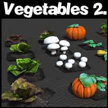 Vegetables 2. 3D Models dexsoft-games
