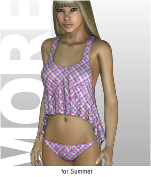 MORE Textures & Styles for Summer 3D Figure Assets motif