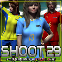 SHOOT 29: Soccer for Genesis 2 Female(s) 3D Figure Essentials outoftouch