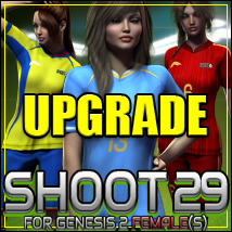 SHOOT 29: Soccer for Genesis 2 Female(s) - UPGRADE 3D Figure Assets outoftouch