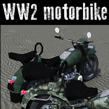 WW2 Motorbike 3D Models dexsoft-games