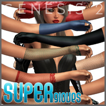 SuperGloves Infinite for Genesis 2 Female(s) 3D Figure Essentials outoftouch