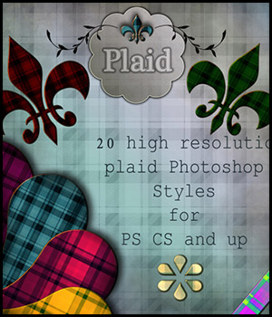 Plaid Photoshop Styles 2D antje