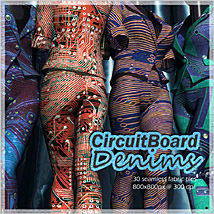 CircuitBoard Denims 2D Merchant Resources RajRaja