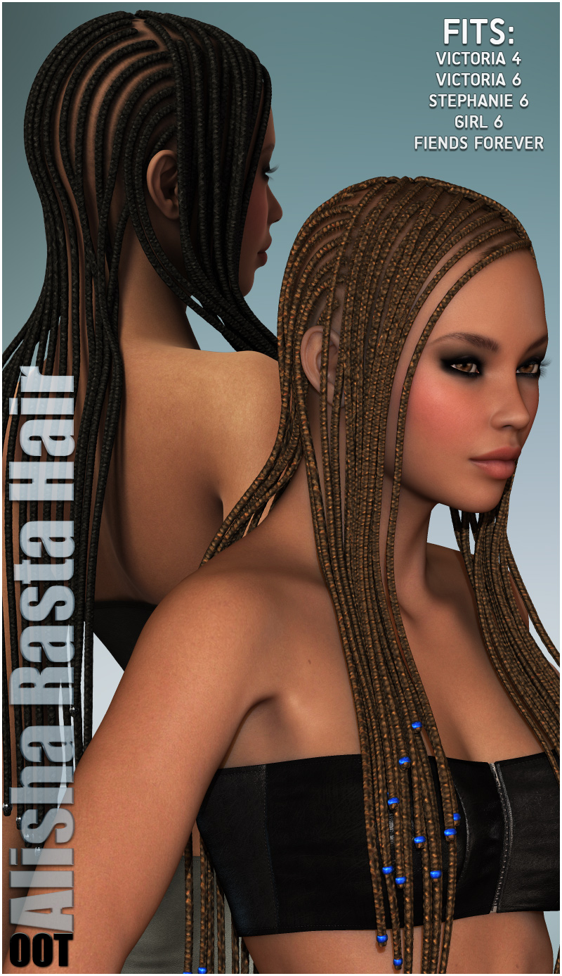 Alisha Rasta Hair for V4 and G2F