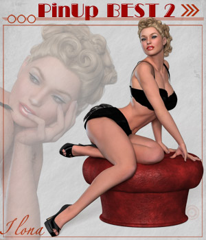 Pin Up Best 2 3D Figure Assets ilona