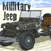 Millitary Jeep 3D Models dexsoft-games