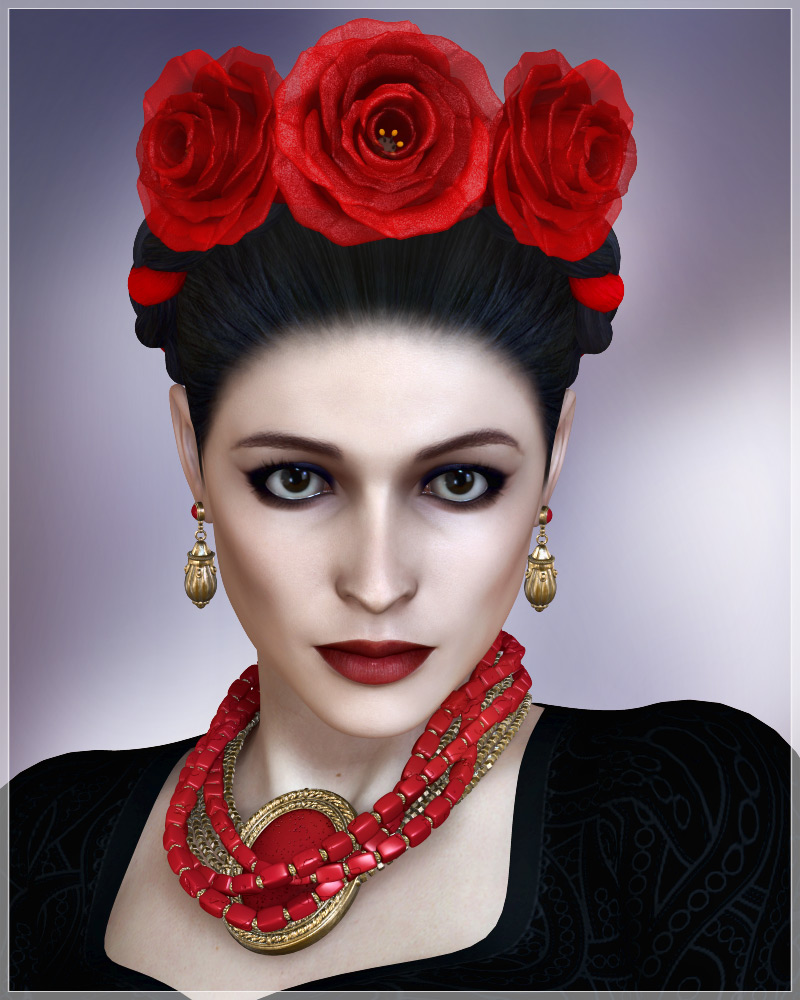 Frida Collection - Hair and Jewelry for V4