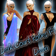 Dark Court Robes V4 & Dawn 3D Figure Assets Sshodan