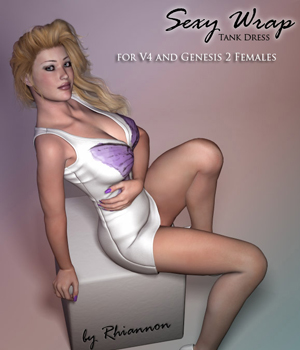 Sexy Wrap for V4 and Genesis 2 Female 3D Figure Assets RPublishing