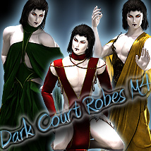 Dark Court Robes M4 3D Figure Assets Sshodan
