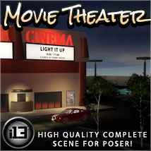 i13 Movie Theater Software 3D Models ironman13