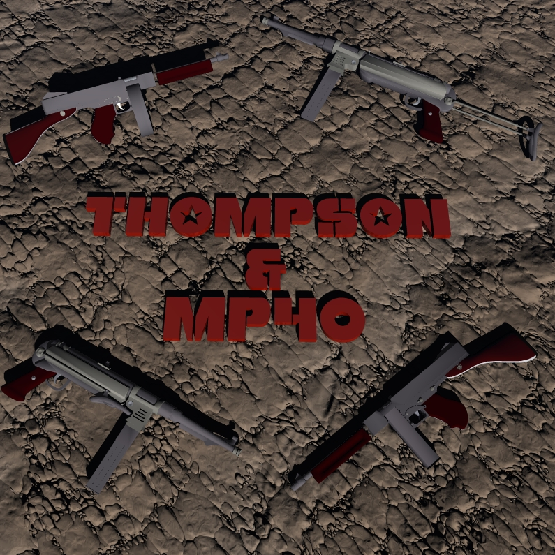 Thompson & MP40 Set