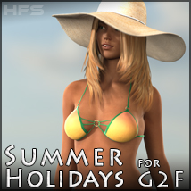 HFS Summer Holidays for G2F 3D Figure Assets DarioFish