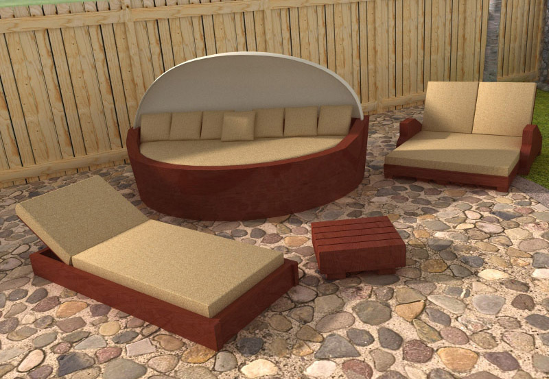 Outdoor furniture 3d models rpublishing for Outdoor furniture 3d model