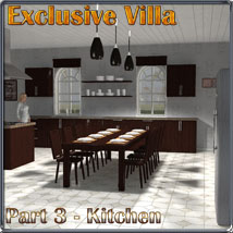 Exclusive Villa 3: Kitchen by 3-d-c