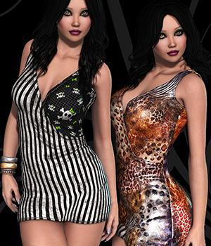 NYC Couture: Wrap Dress 3D Figure Assets 3DSublimeProductions