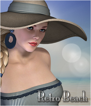 Retro Beach - V4 Outfit 3D Figure Essentials P3D-Art